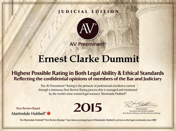 2015 AV Preeminent Award 1
