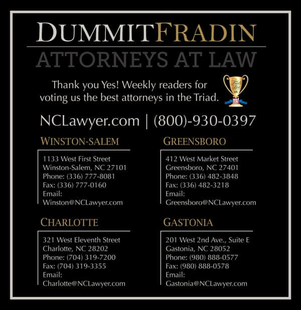 Voted Best Attorneys by Yes Weekly Readers in the Triad Area 1