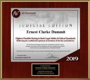 Clarke Dummit 2019 AV Preeminent Rating