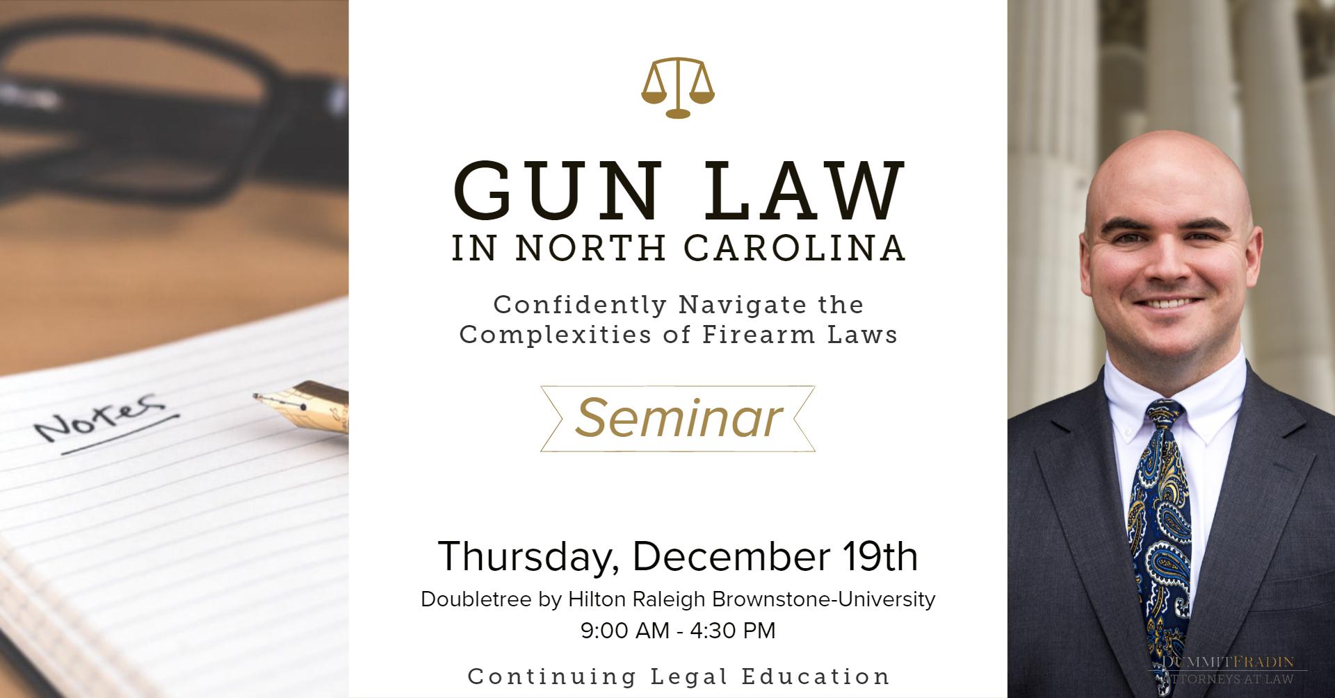 Patrick Apple CLE Gun Law in NC December 19 2019